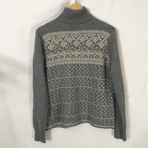 Vintage Grey and Cream Crew Neck Sweater